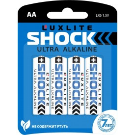 Батарейки Luxlite Shock (BLUE) типа АА - 4 шт.
