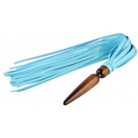 """Голубая лаковая плеть """"Комета"""" - 60 см."""